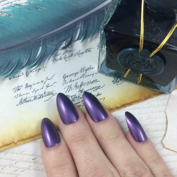 What Did I Miss? nail polish Hamilton Musical Thomas Jefferson purple shimmer