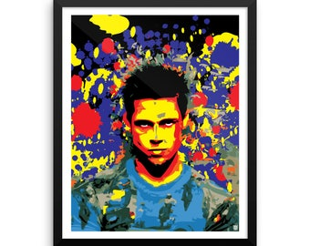 16 x 20 Fight Club Tyler Durden Pop Art Wall Art Home Decor Framed Print