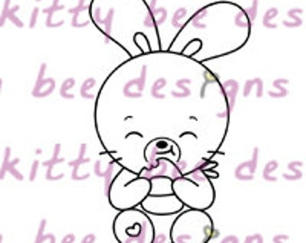 Onigiri (Rice Ball) Bun  Digital Stamp