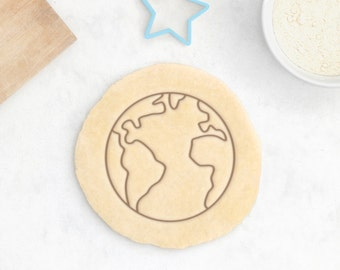 Planet Earth Cookie Cutter – Planet Cookie Cutter Space Cookies Solar System Sun Cookie Cutter Moon Cookies Science Cookie Cutter Geology