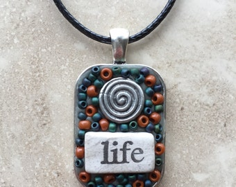 Swirl of Life pendant necklace