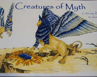 Creatures of Myth adult coloring book