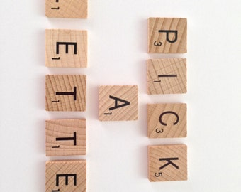 Wooden Scrabble Tile Pick Any letter - Magnets / Pendants / Craft