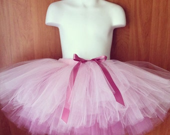 The Amalie - Reversible SEWN Tutu - made to order in your choice of colors and length - Super Full