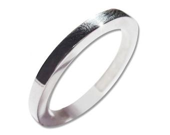 Men Wedding Band Sterling Silver Rins