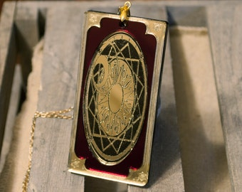 CardCaptor Sakura Clow Card Acrylic Necklace Charm