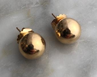 Vintage 14k Gold Ball Earrings