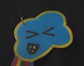 pooping cloud pendant