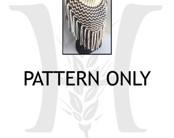 Outlaw Queen Cowl crocheted textured pattern by Harvester Products
