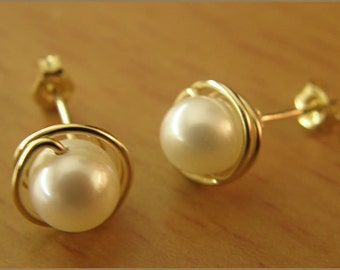 earrings mother of pearl silver or gold filled