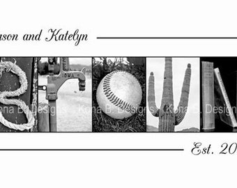 Personalized Wedding Gift - Alphabet Photography - 10x20 Unframed Print