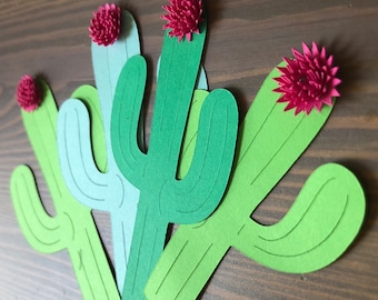 Cactus Flower Treat Toppers  Cactus Party
