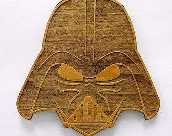 Star Wars Stylized Darth Vader Wooden Fridge Magnet