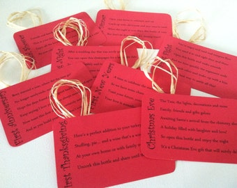 Bridal Shower Wine Tags
