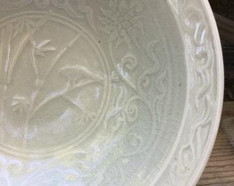 Bamboo Lotus Celadon Bowl