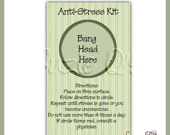 Anti-Stress Kit - Digital Printable - Immediate Download