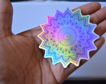 Mandala holographic stickers