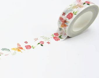 Roll of masking tape-colorful flowers - Washi tape flower