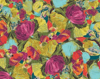 Sage Cactus Flora Berry sm by Bari J. for  Art Gallery Fabric  SGE-14457