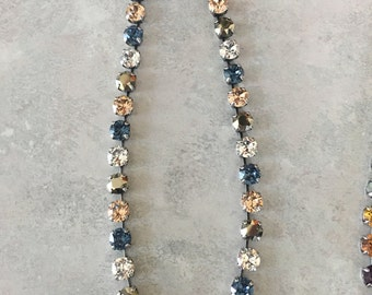 Perfect to wear with blue jeans, Swarovski Crystal necklace