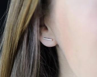 Stud earrings,Sterling silver stud earrings, small stud earrings Sterling silver bar studs, bar studs, silver bar stud earrings ,bar jewelry