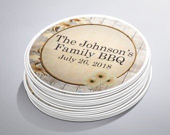 Family Picnic BBQ Stickers, Family Reunion, Backyard Family BBQ, Barbecue Party, Family Gathering, Family Party, Custom