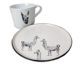 Llama Porcelain Stickers