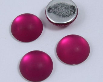 18mm Frosted Fuchsia Cabochon #712