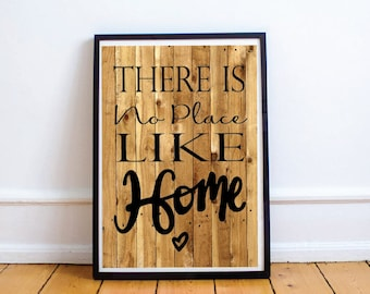 Home Printable, No Place Like Home, Home Quote Printable, Home Quote