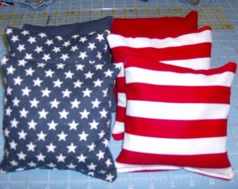 4 Stars & 4 Stripes  print Corn Hole Game Bags