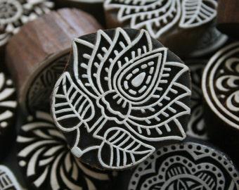 Indian wood printing block
