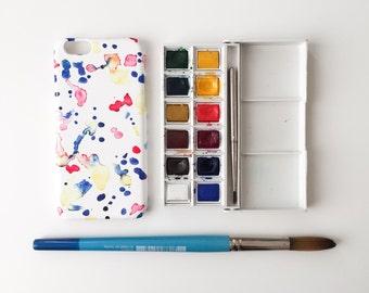 Watercolour Doodles phone case / watercolour iPhone X, iPhone 8, 8 Plus, iPhone 7, iPhone 6s, 6, iPhone 5/5S, Se, Samsung Galaxy S7, S6, S5