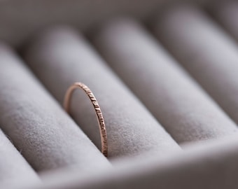 Hammered Rose Gold Ring | Rose Gold Filled | Dainty Ring | Stacking Rings | Gifts For Her | Dainty Jewellery | Midi Ring