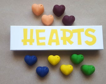 Heart Crayon Set - Multi-Colored Crayon Set - Ten Crayons - Heart Crayons - Valentine's Day Gift - Valentine's Day Party Favor - Kids Gift