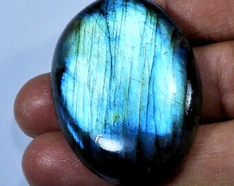126.90 Cts. FREE SHIPPING Natural Blue Labradorite Blue Flash Oval Cabochon Amazing Gemstone Low Price BB-15