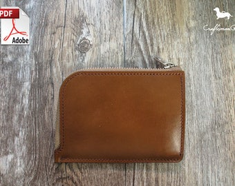 Leather Wallet Pattern (PDF Files): Simple Zipper Wallet (with how to instruction)