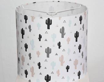 Lampshade - Diameter 40 cm - height 38 cm - fabric cactus / teepee - trendy Decoration