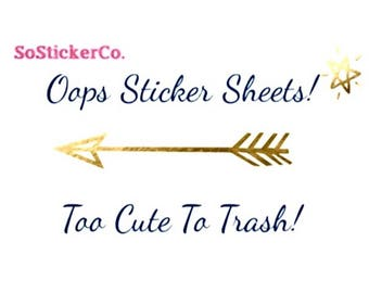 Oops Sticker Sheets, Grab Bag, Miscut Stickers, Stickers for ECLP, Limited Time Only, Please Read Details