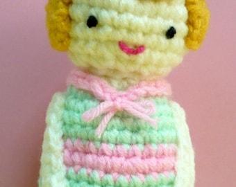 Amigurumi Doll Crochet Pattern Girl Pattern Plush PDF Instant Download Doll Cherie