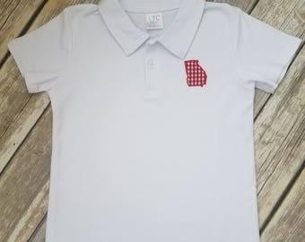 State Applique Polo Shirt