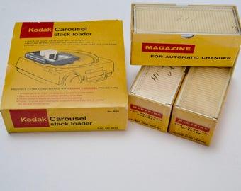 Vintage Kodak Eastman Carousel Stack Loader and Magazine Slide Holders