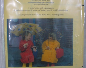 Umbrella Pattern for Children's Rainwear