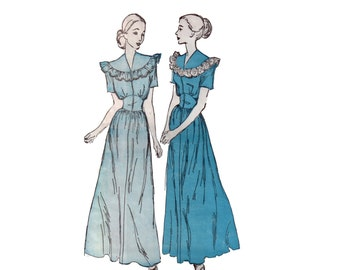 30s uncut Midriff Band Gown pattern Dressing Gown pattern Lingerie pattern Maxi dress pattern, Advance 4535