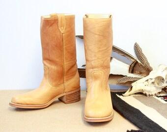 Vintage 70s Dingo Boots | 1970s Boots w/ Original Box | Western, Boho | Men's Size 9