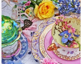 Floral Magic Tea Party - 5 Postkarten-set