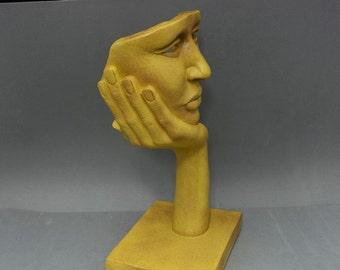 NOSTALGIA - original sculpture, decor object, gift item, yellow granite stone finish