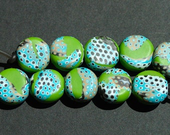 Polymer Clay Beads/Bright Lime