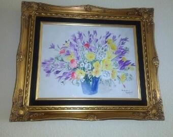 Spring in Bloom - Original Watercolor by Tahwahnah