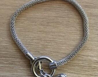 set of 3 bracelets charms snake 19 cm