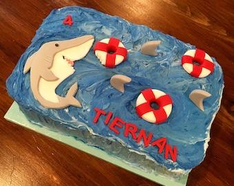 Shark cake toppers